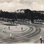 Проспект Карла Маркса и угол Артемовской. Почтовая карточка 1935 года